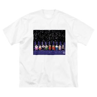 長与 千種 Chigusa Nagayoのマーベルドッグス笠地蔵 Big silhouette T-shirts