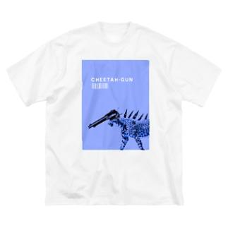 CHEETAH-GUN Big silhouette T-shirts