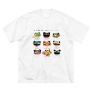 カエルの笑顔が好き Big Silhouette T-Shirt