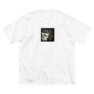 チワワのベルちゃん Big silhouette T-shirts