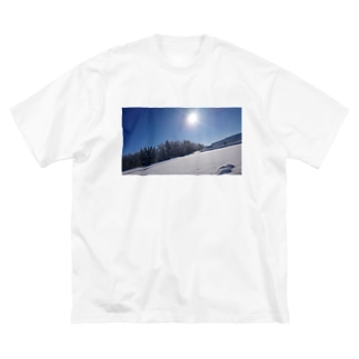 雪化粧 Big silhouette T-shirts