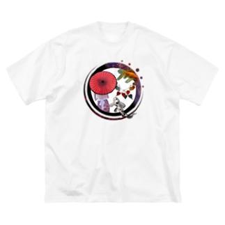 和華 Big silhouette T-shirts