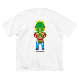 よシまるシンの架空似顔絵図人間5.1 Big silhouette T-shirts