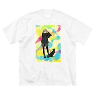 準備運動よしっ! Big silhouette T-shirts