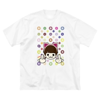 MIMMIのモノグラム (ミンクロの(ミンクロのT-シャツ)) Big silhouette T-shirts