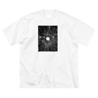 夜の散歩 Big silhouette T-shirts