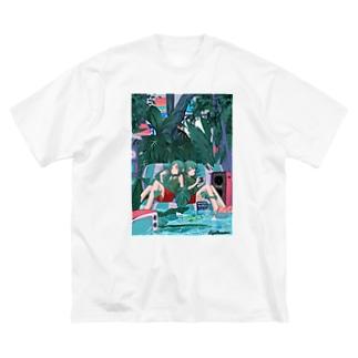 ぴっぱらのSummer Room Big silhouette T-shirts