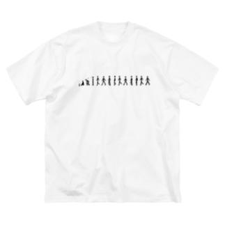 歩く人 Big silhouette T-shirts