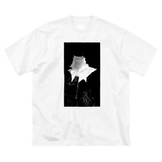雨上がりのバラ~淡色薔薇写真~ Big silhouette T-shirts