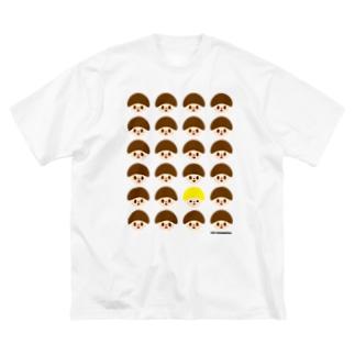 どんぐりくん Big silhouette T-shirts
