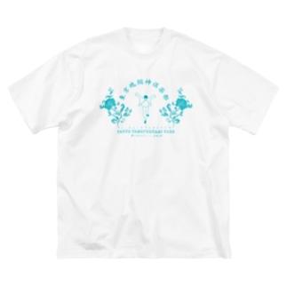 東京魂掴神倶楽部-青- Big silhouette T-shirts
