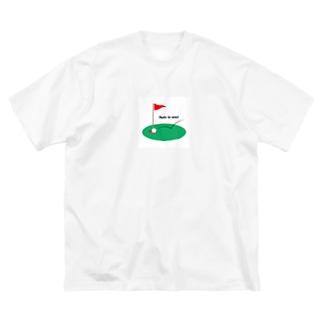 ゴルフ Big silhouette T-shirts