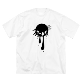 パンクな目玉 Big silhouette T-shirts
