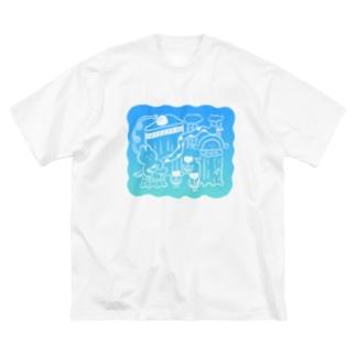 昨日見た夢(グラデ〜ション) Big silhouette T-shirts