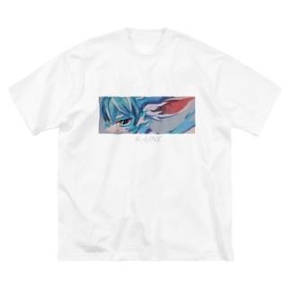 BLUE 001 Big silhouette T-shirts