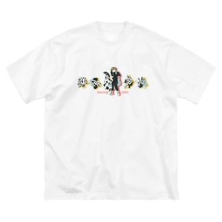 Dancing COWs Big silhouette T-shirts