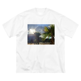 日暮れ Big silhouette T-shirts