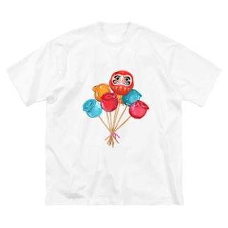 りんご飴です Big silhouette T-shirts
