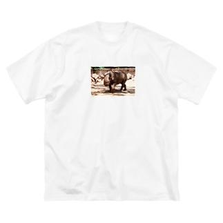 クロサイ Big silhouette T-shirts
