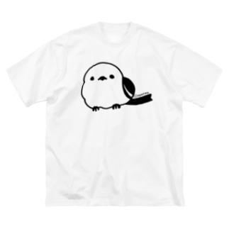 シマエナガ Big silhouette T-shirts