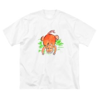 土下座牛 Big silhouette T-shirts