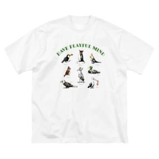 kei saitoのBIRDS  Big silhouette T-shirts