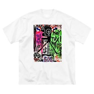 extreme scream Big silhouette T-shirts