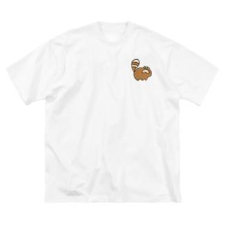 たぬ Big silhouette T-shirts