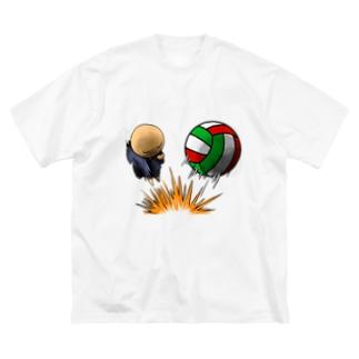 落ちこぼれのこぼれ君 スパイク Big silhouette T-shirts