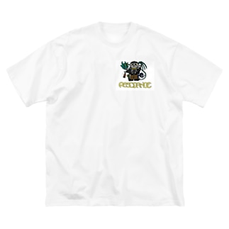 resonanceガイコツ Big silhouette T-shirts