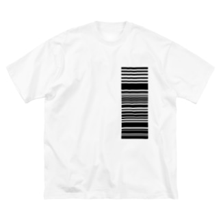 読み取って下さい、の精神。(black) Big silhouette T-shirts