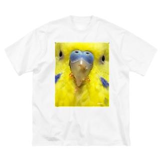 どアップおかゆ Big silhouette T-shirts
