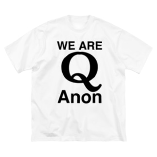 WE ARE QAnon-Qアノン-黒ロゴ Big silhouette T-shirts