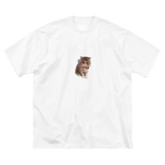 座りえびす Big silhouette T-shirts