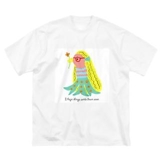 アマビエちゃん Big silhouette T-shirts