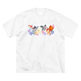 桜東錦たち Big silhouette T-shirts