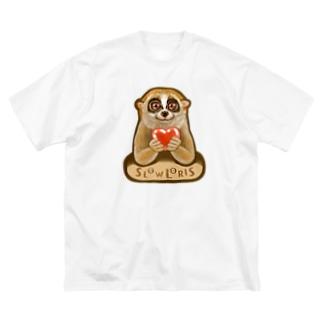 スローロリス SLOW LORIS Big silhouette T-shirts