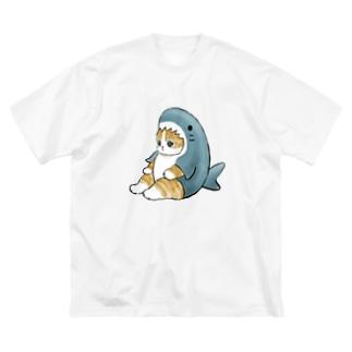 サメにゃん Big silhouette T-shirts