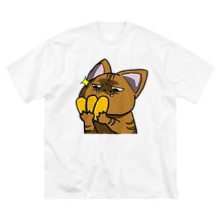 価値の分かる猫 Big silhouette T-shirts