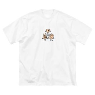 MITSUDOMOE Big silhouette T-shirts