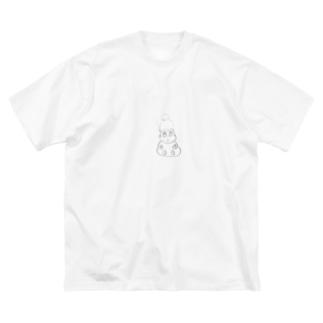 おもちくん Big silhouette T-shirts