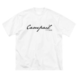 Campail LogoType-Black Big silhouette T-shirts