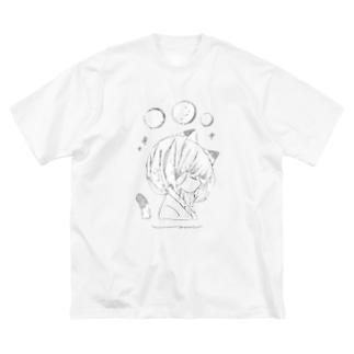 umiの猫の彼女 Big silhouette T-shirts