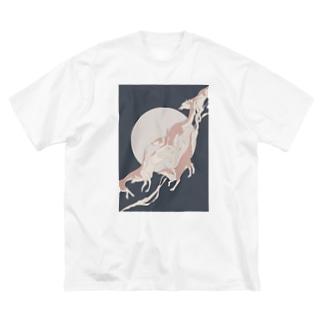 疾走る Big silhouette T-shirts