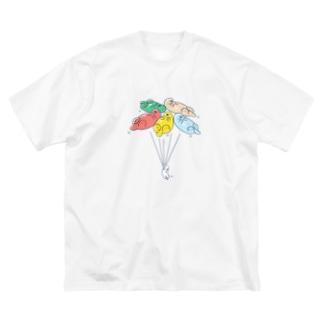 ラッッッコ「バルーン」 Big silhouette T-shirts