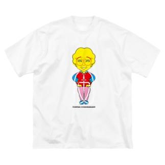 よシまるシンの架空似顔絵図人間13.1 Big silhouette T-shirts