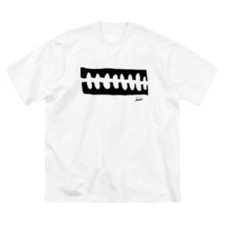 骨々mono Big silhouette T-shirts
