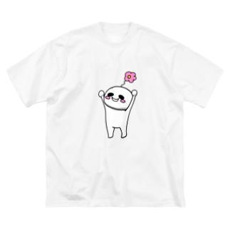 バンザイはなちょ Big silhouette T-shirts