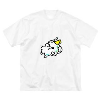 せっけん泡マン Big silhouette T-shirts