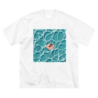 無職バカンス Big silhouette T-shirts